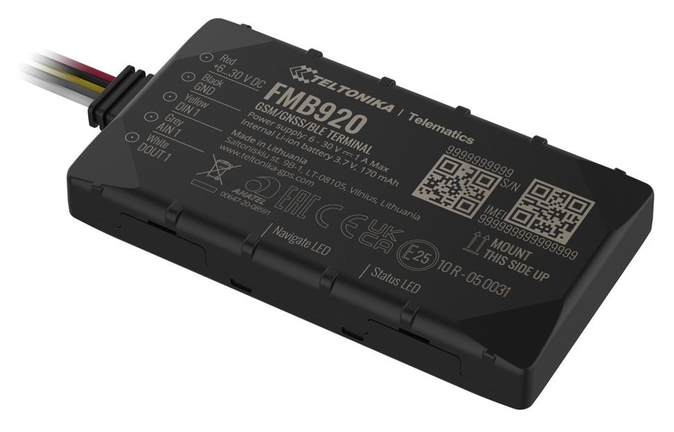 TELTONIKA GPS Tracker αυτοκινήτου FMB920AE5M01, GSM/GPRS/GNSS, Bluetooth - TELTONIKA 37691
