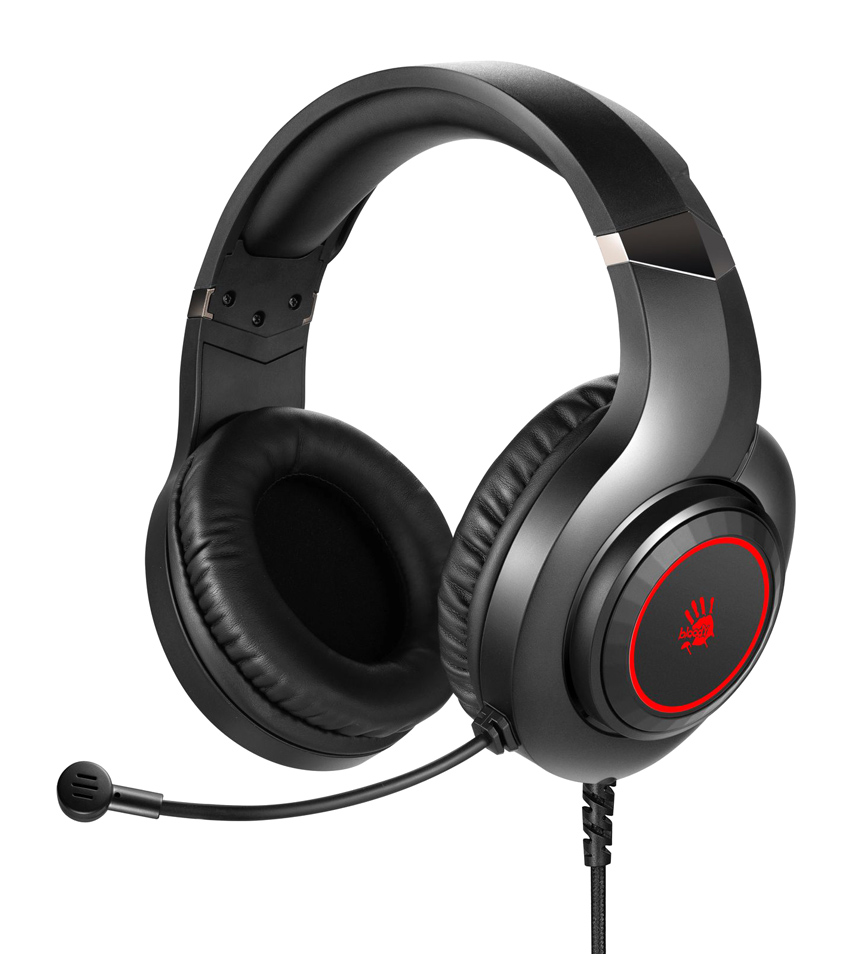 BLOODY Headset G200S, USB, 50mm ακουστικά, HiFi stereo, μαύρα - BLOODY 36520