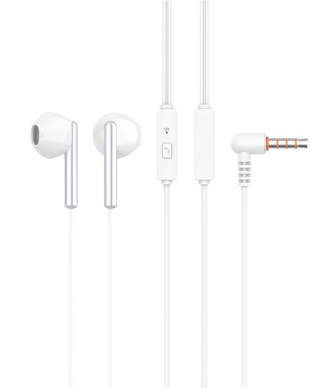 CELEBRAT Earphones G6-WH με μικρόφωνο, 14mm, 3.5mm, 1.2m, λευκά - CELEBRAT 25691
