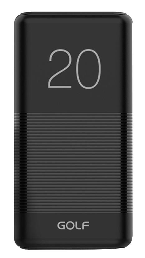 GOLF Power bank Candy G81 20000mAh, 2x output, 2.1A, μαύρο - GOLF 36242