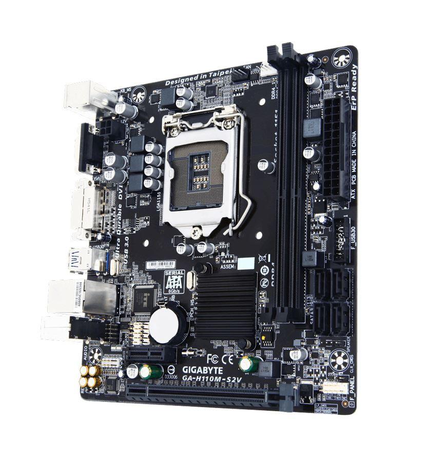 GIGABYTE Μητρική H110M-S2V, 2x DDR4, s1151, USB 3.0, mATX - GIGABYTE 20101