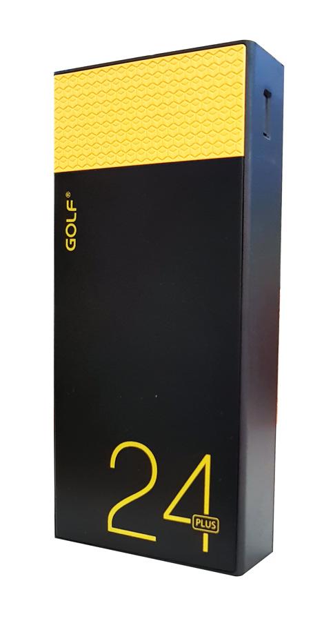 GOLF Power Bank Hive 24 Plus 24000mAh, 4x Output 4.2A, Μαύρο-Κίτρινο - GOLF 17852