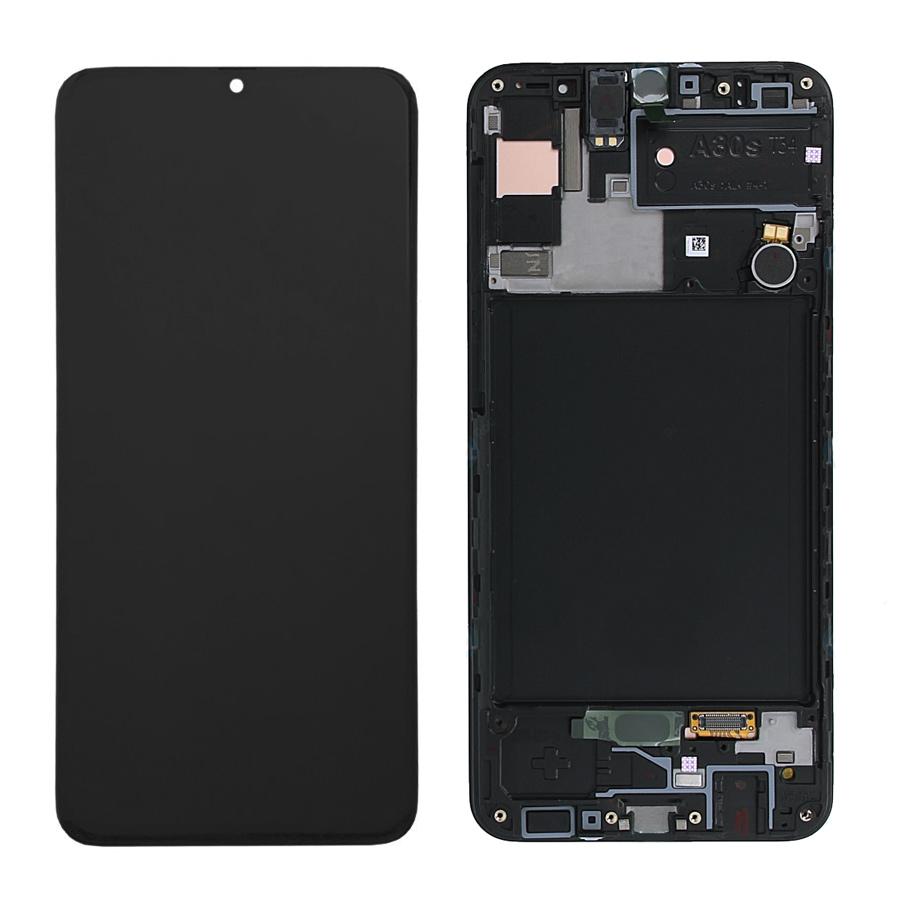 SAMSUNG Original LCD Touch Screen GH82-21190A, A30s 2019 A307, μαύρη - SAMSUNG 26982