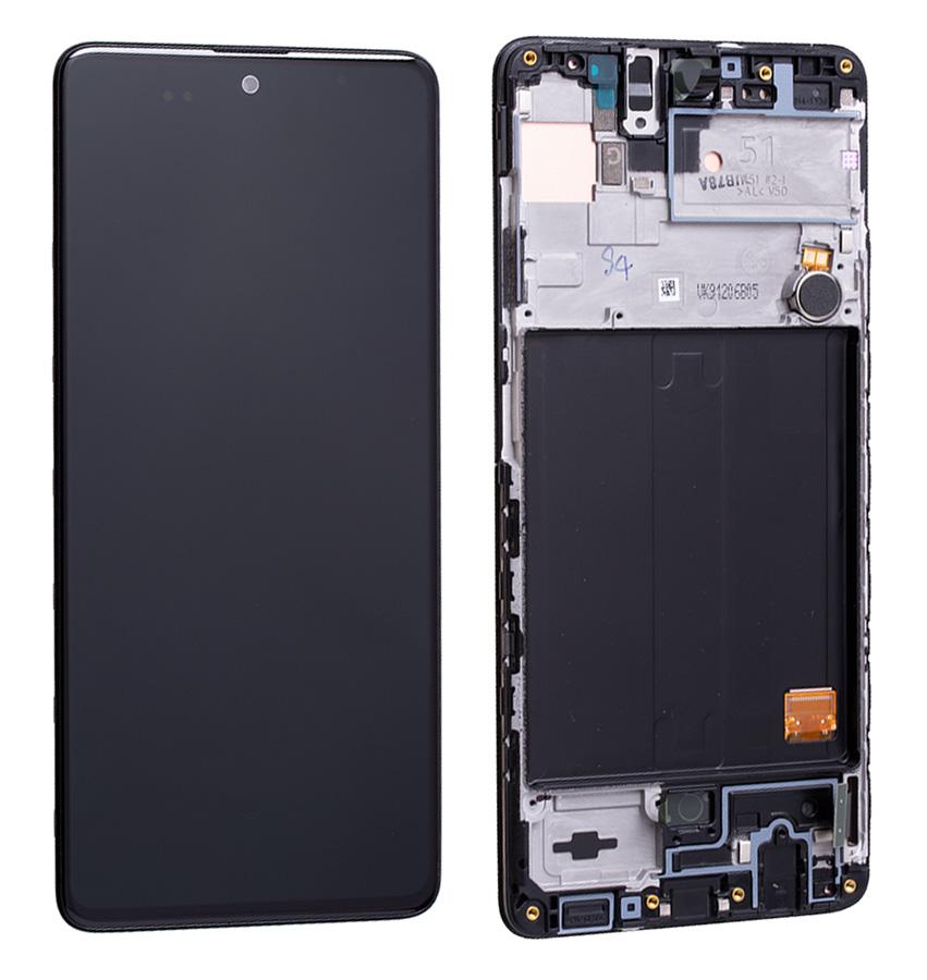 SAMSUNG Original LCD Touch Screen GH82-21669A, A51 A515F, μαύρη - SAMSUNG 30182