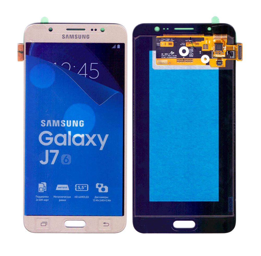 SAMSUNG Original LCD & Touch Panel για Galaxy J7 2016 J710F, Gold - SAMSUNG 22899