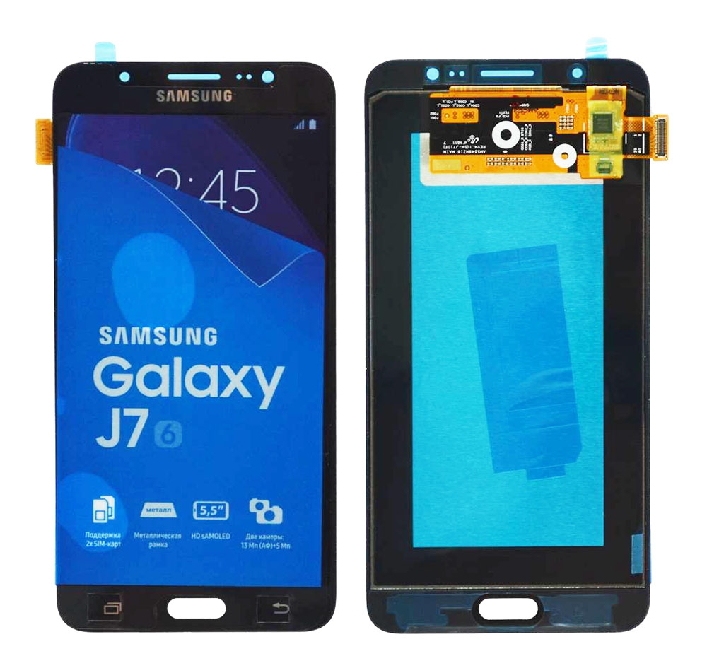 SAMSUNG Original LCD & Touch Panel για Galaxy J7 2016 J710F, Black - SAMSUNG 22898