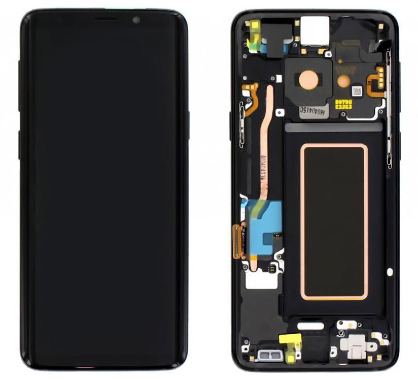 SAMSUNG Original LCD Touch Screen GH97-21696A, S9 SM-G960F, μαύρη - SAMSUNG 27859