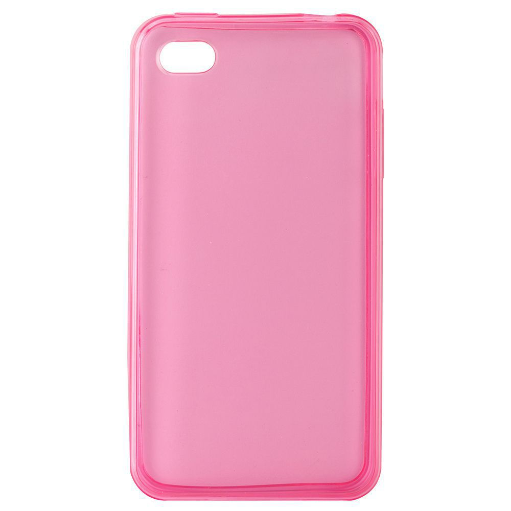 Θήκη TPU Ultra Slim 0,5mm για iPhone 4/4S, Pink - UNBRANDED 7267