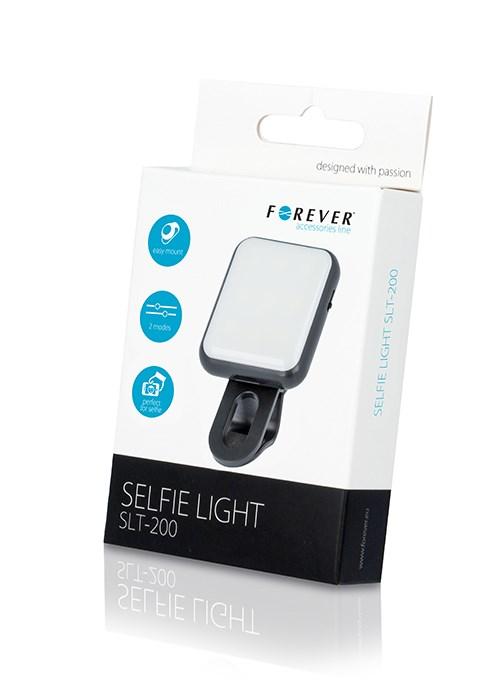 FOREVER LED φωτισμός SLT-200 για smartphone, με clip - FOREVER 10329