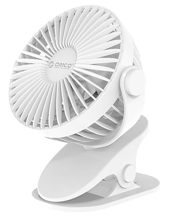 ORICO επιτραπέζιος ανεμιστήρας με clip GXZ-F835, USB, λευκός - ORICO 42081