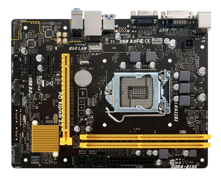 BIOSTAR μητρική H110MD PRO D4, s1151, 2x DDR4, DVI-D, USB 3.0, mATX - BIOSTAR 10916