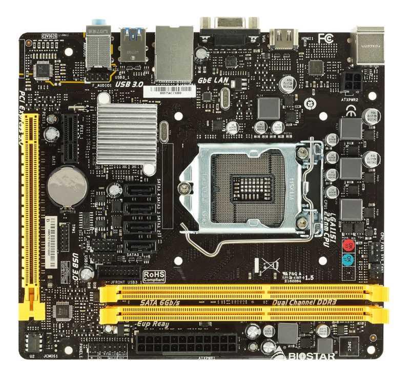 BIOSTAR μητρική H110MHV3, s1151, 2xDDR3L, HDMI, USB 3.0, mATX - BIOSTAR 10914