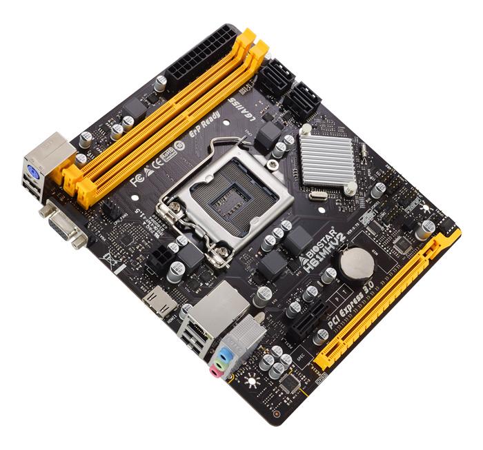 BIOSTAR Μητρική H61MHV2, 2x DDR3, s1155, 8x USB 2.0 HDMI, mATX, Ver. 7.0 - BIOSTAR 29668