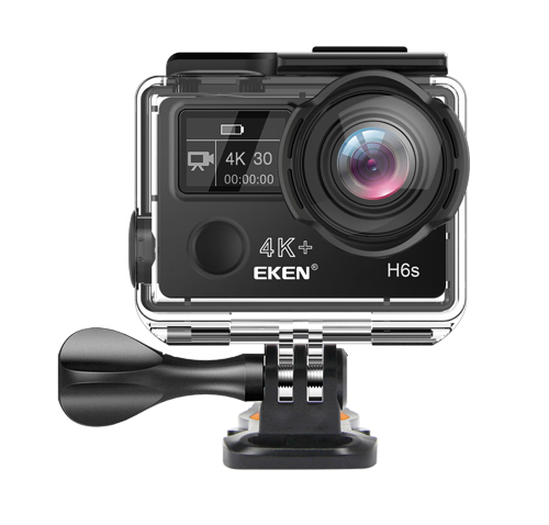 EKEN Action Cam H6s, Ultra HD 4K, 14MP, WiFi, EIS, Waterproof, Black - EKEN 17612