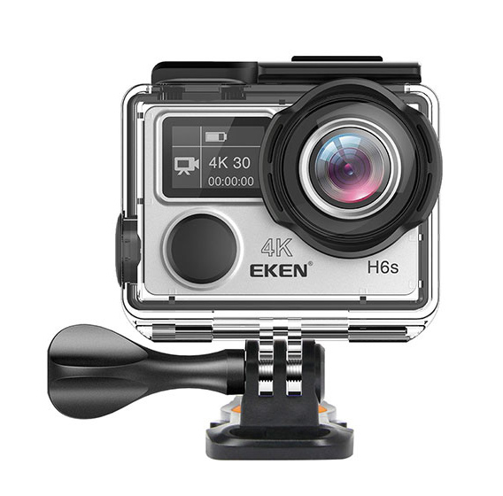 EKEN Action Cam H6s, Ultra HD 4K, 14MP, WiFi, EIS, Waterproof, Silver - EKEN 17613