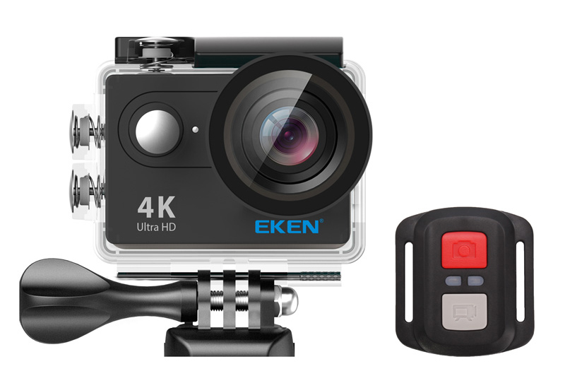 EKEN Action Cam H9R, Ultra HD 4K, 12MP, WiFi, Remote, Waterproof, Black - EKEN 14937