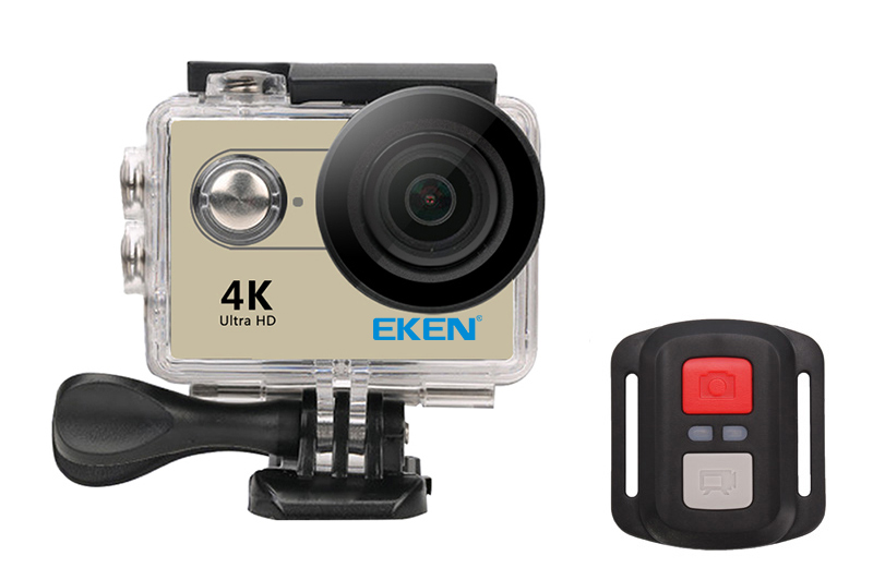 EKEN Action Cam H9R, Ultra HD 4K, 12MP, WiFi, Remote, Waterproof, Gold - EKEN 16034