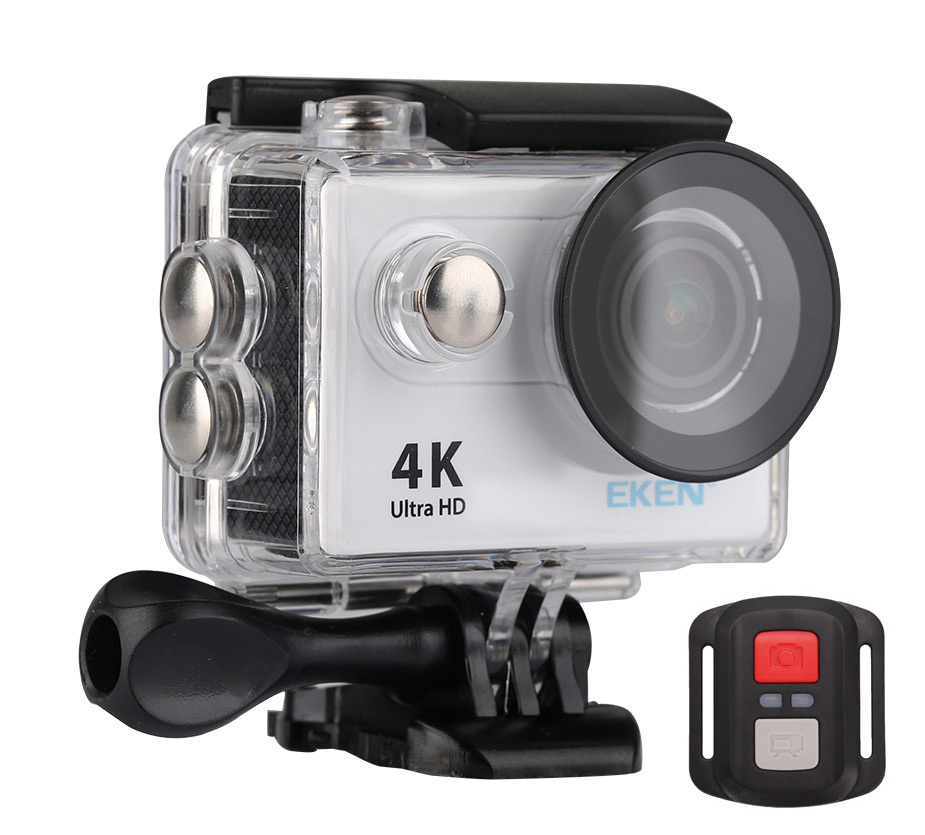 EKEN Action Cam H9R, Ultra HD 4K, 12MP, WiFi, Remote, Waterproof, Silver - EKEN 14938
