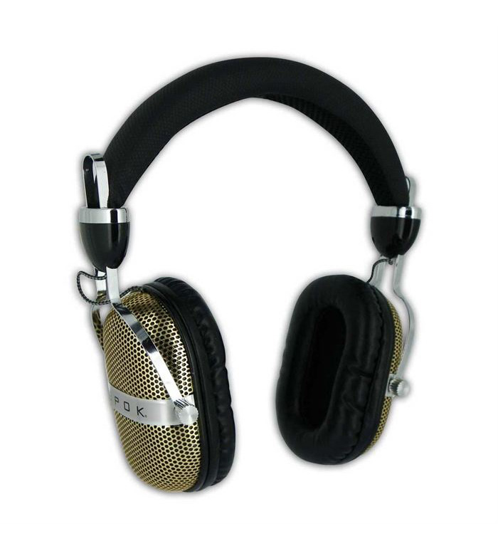 EPOK Headphones HDP2 Retro, 115dB, 2m, χρυσό - EPOK 20473