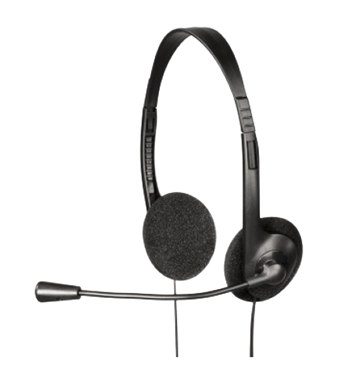 EXXTER Stereo Headset HE-100, Microphone, Black - EXXTER 11255