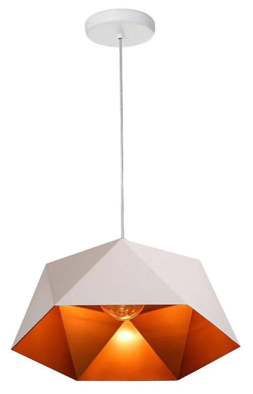 POWERTECH φωτιστικό οροφής HLL-0040, E27, 25x15cm, μεταλλικό, λευκό - POWERTECH 41684