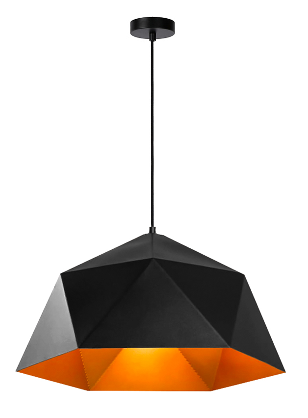 POWERTECH φωτιστικό οροφής HLL-0041, E27, 25x15cm, μεταλλικό, μαύρο - POWERTECH 41685
