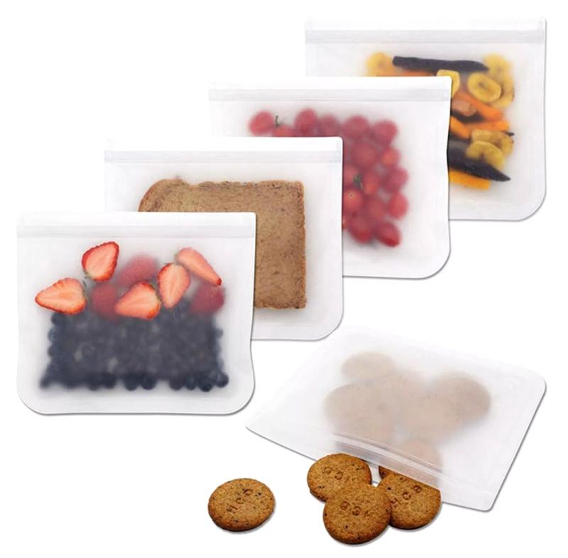 Σετ επαναχρησιμοποιούμενες αεροστεγείς σακούλες τροφίμων HUH-0040, 4τμχ - UNBRANDED 42311