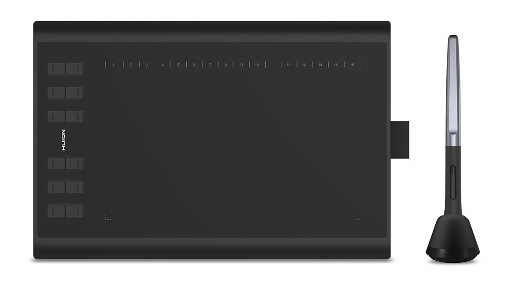 "HUION pen tablet H1060P 10 x 6.25"", battery-free pen, 16 πλήκτρα, μαύρο - HUION 32889"