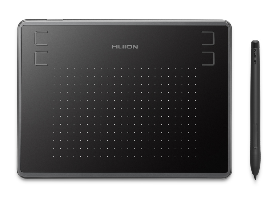 "HUION pen tablet H430P 4.8 x 3"", battery-free pen, 4 πλήκτρα, μαύρο - HUION 32891"