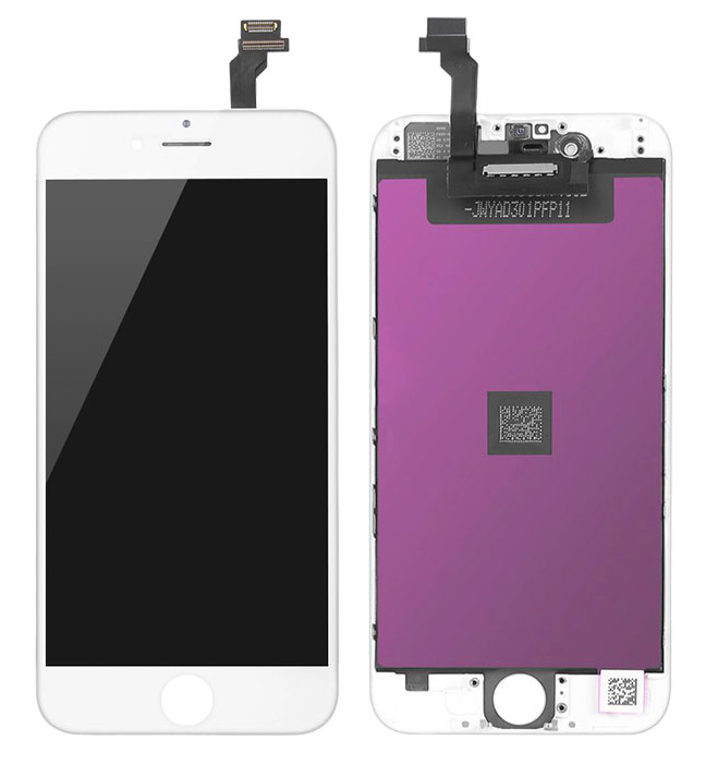 TW INCELL LCD ILCD-002 για iPhone 6, camera-sensor ring, earmesh, λευκή - TW INCELL 30144
