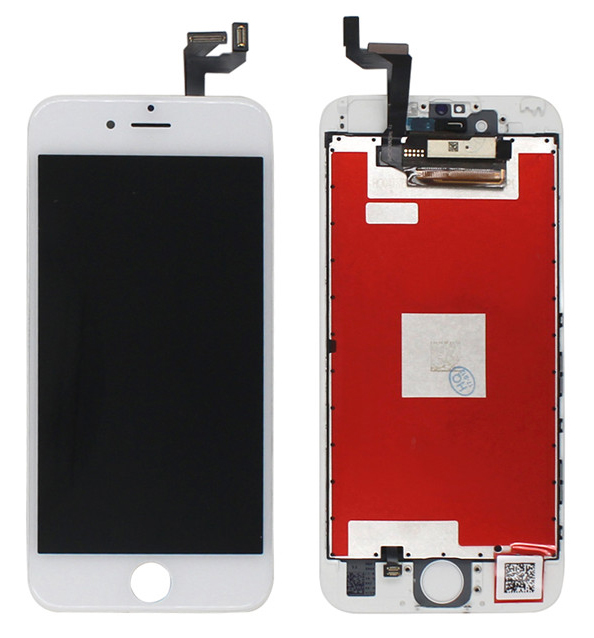 TW INCELL LCD ILCD-004 για iPhone 6s, camera-sensor ring, earmesh, λευκή - TW INCELL 30146