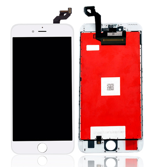 TW INCELL LCD για iPhone 6s Plus, camera-sensor ring, earmesh, λευκή - TW INCELL 30148