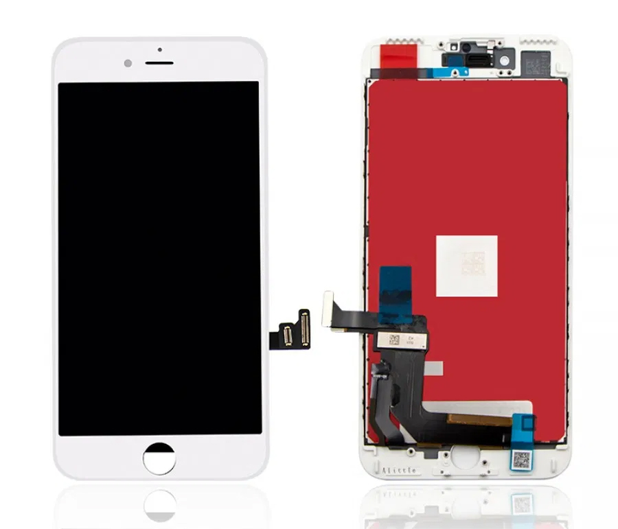 TW INCELL LCD για iPhone 7 Plus, camera-sensor ring, earmesh, λευκή - TW INCELL 30152