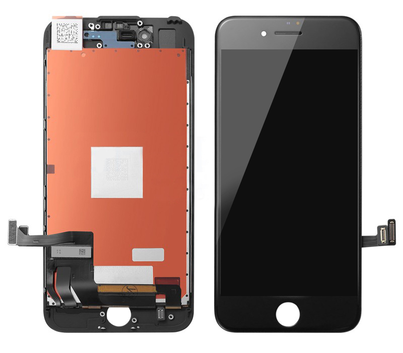 TW INCELL LCD ILCD-011 για iPhone 8, camera-sensor ring, earmesh, μαύρη - TW INCELL 30153