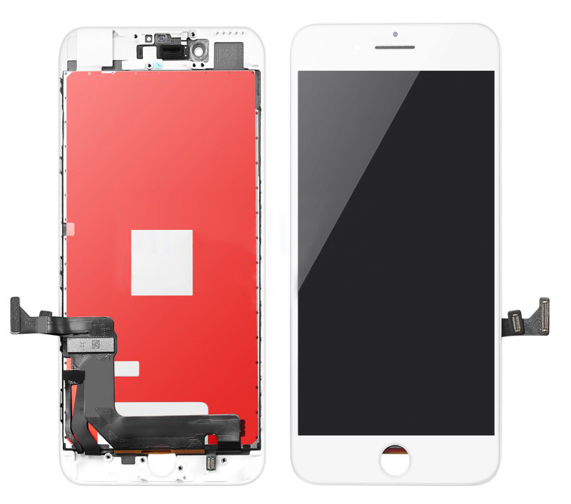 TW INCELL LCD ILCD-012 για iPhone 8, camera-sensor ring, earmesh, λευκή - TW INCELL 30154