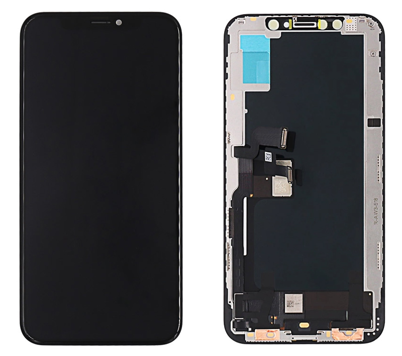 TW INCELL LCD ILCD-016 για iPhone ΧS, camera-sensor ring, earmesh, μαύρη - TW INCELL 30158