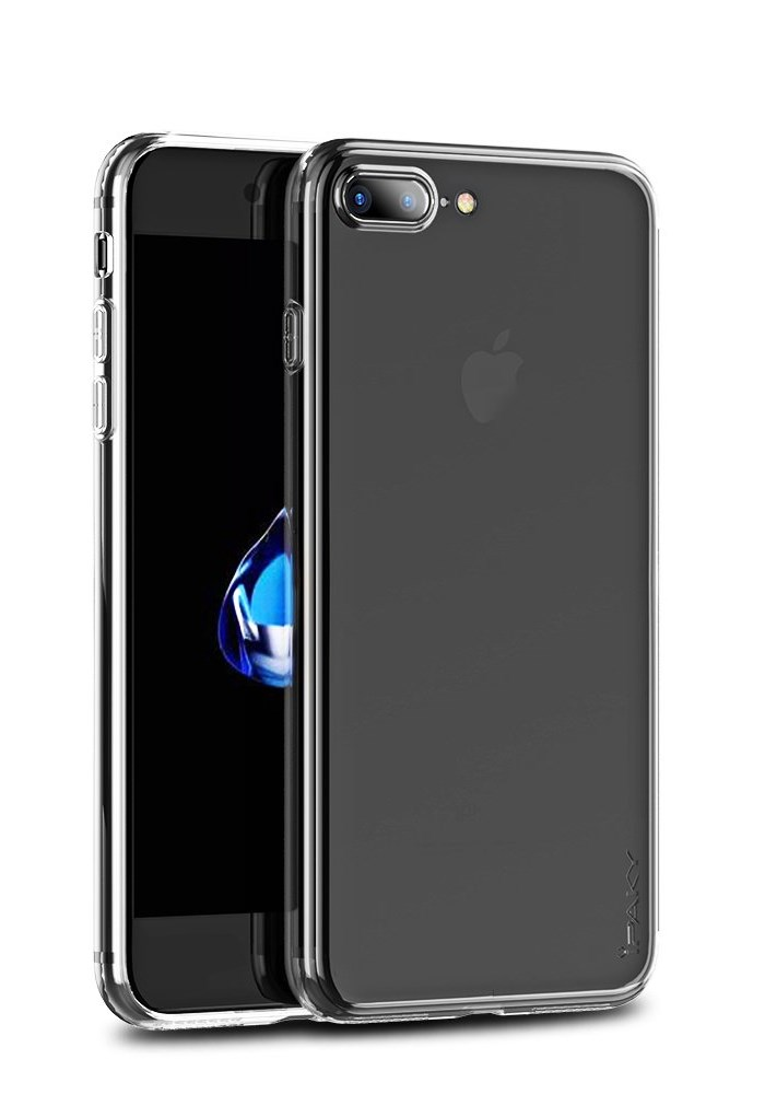 IPAKY Θήκη Effort TPU & tempered glass για iPhone 8 Plus/7 Plus, διάφανη - IPAKY 22315