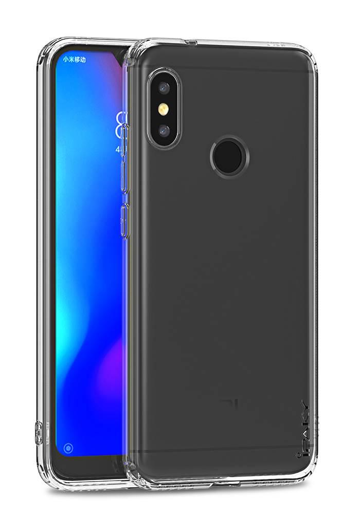 IPAKY Θήκη Effort TPU & tempered glass για Xiaomi Mi A2 Lite, διάφανη - IPAKY 22316