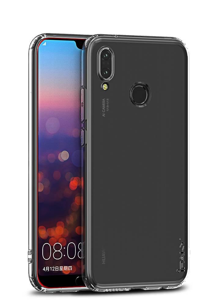 IPAKY Θήκη Effort TPU & tempered glass για Huawei P20 Lite, διάφανη - IPAKY 22317