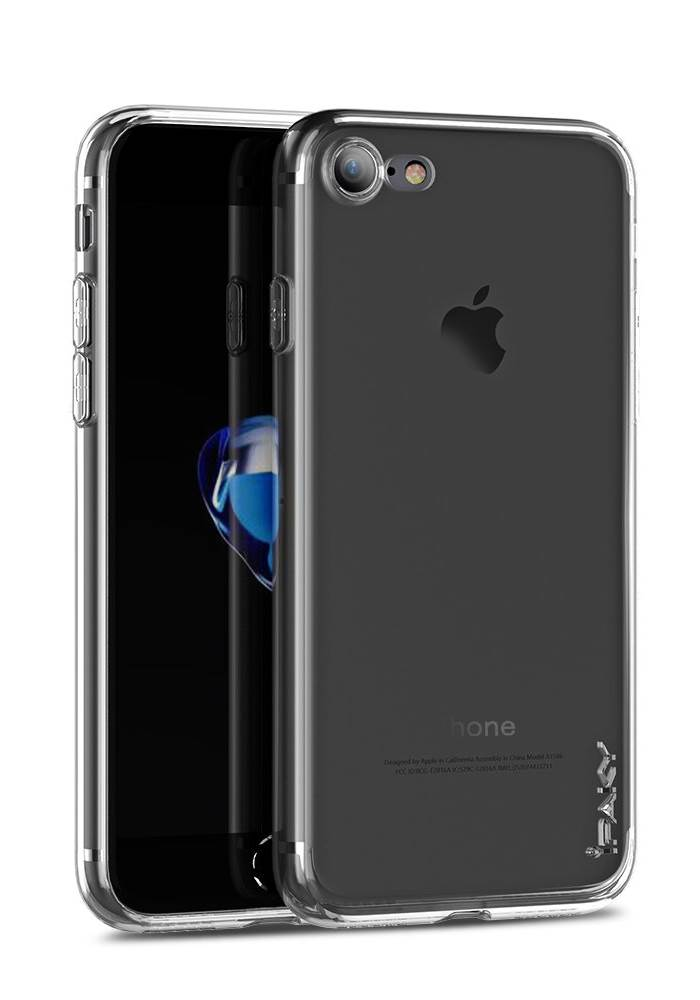 IPAKY Θήκη Effort TPU & tempered glass για iPhone 8/7, διάφανη - IPAKY 22318
