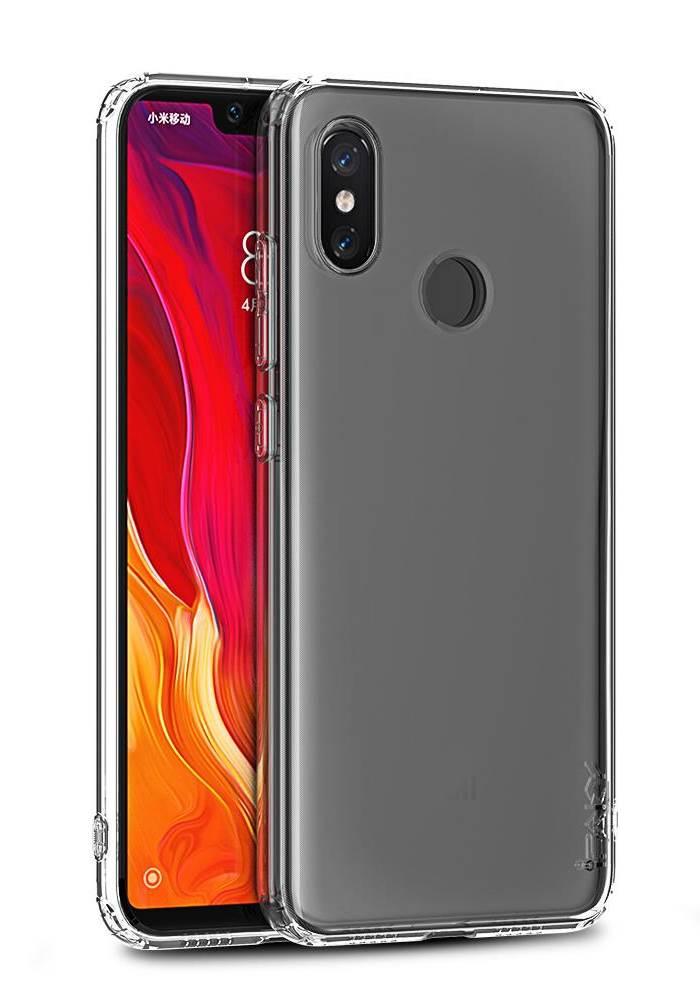 IPAKY Θήκη Effort TPU & tempered glass για Xiaomi Mi A1, διάφανη - IPAKY 22323