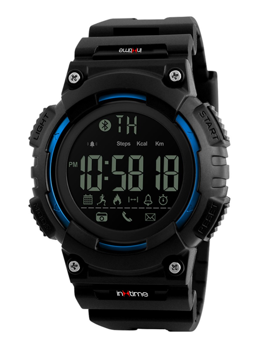 INTIME Smartwatch SW-V02, Pedometer, Remote Camera, αδιάβροχο - IN TIME 22940