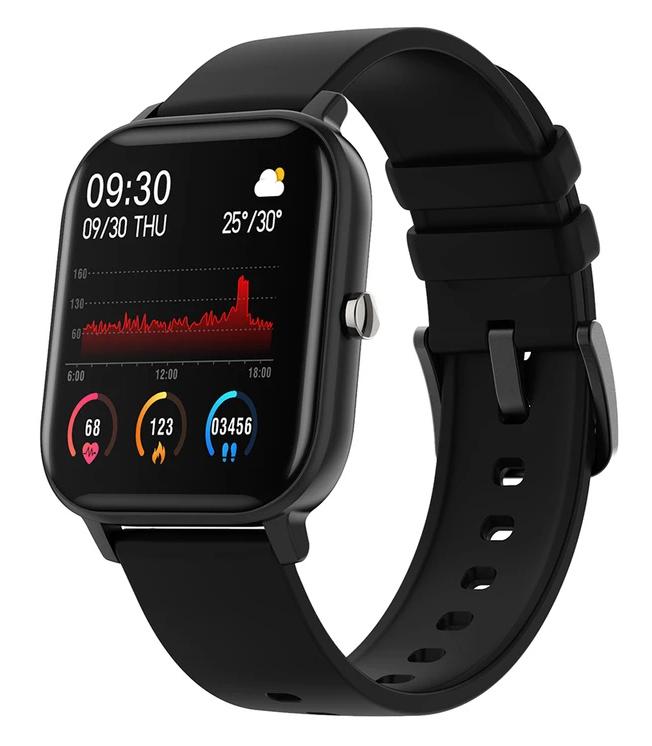 """ΙΝΤΙΜΕ Smartwatch P8, 1.4"""" έγχρωμο, IPX7, HR & Blood pressure, μαύρο - INTIME 28890"""