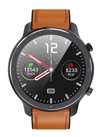 """ΙΝΤΙΜΕ Smartwatch L11, 1.3"""" έγχρωμο, IP68, HR & Blood pressure, μαύρο - INTIME 28891"""