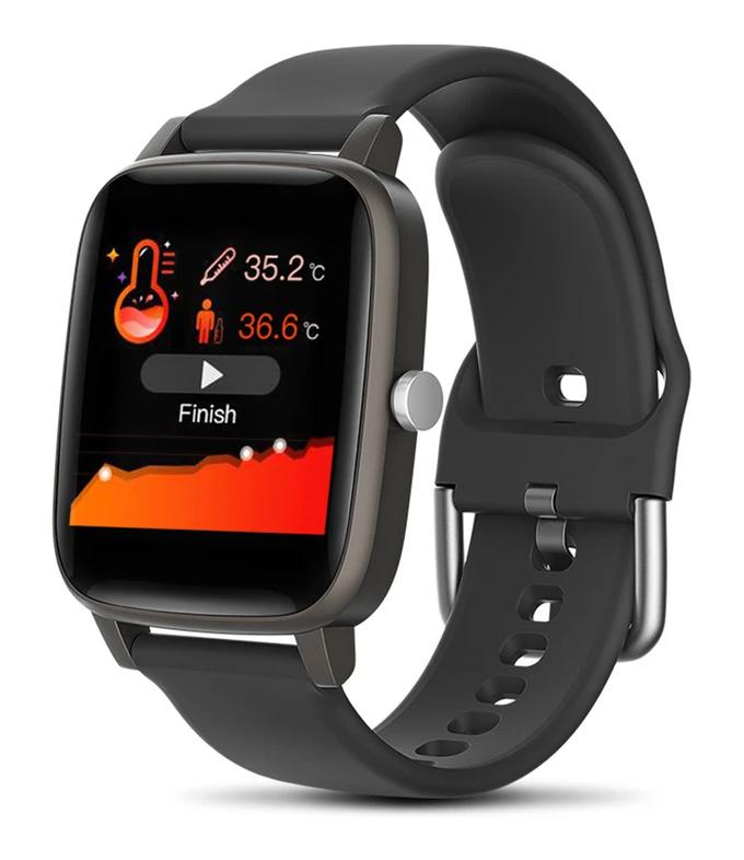 """ΙΝΤΙΜΕ Smartwatch T98, 1.4"""" έγχρωμο, IP67, μέτρηση θερμοκρασίας, μαύρο - INTIME 31183"""