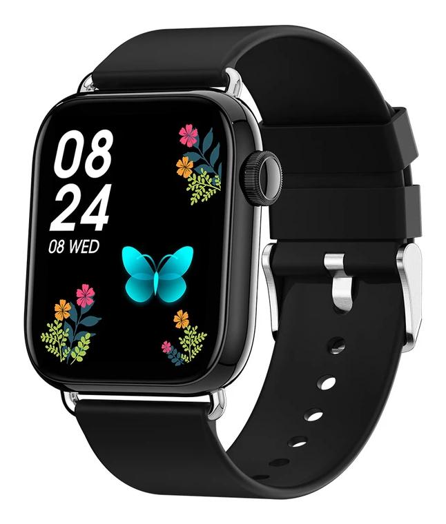 """ΙΝΤΙΜΕ smartwatch P16, 1.69"""" έγχρωμο, IP67, HR & Blood pressure, μαύρο - INTIME 41611"""