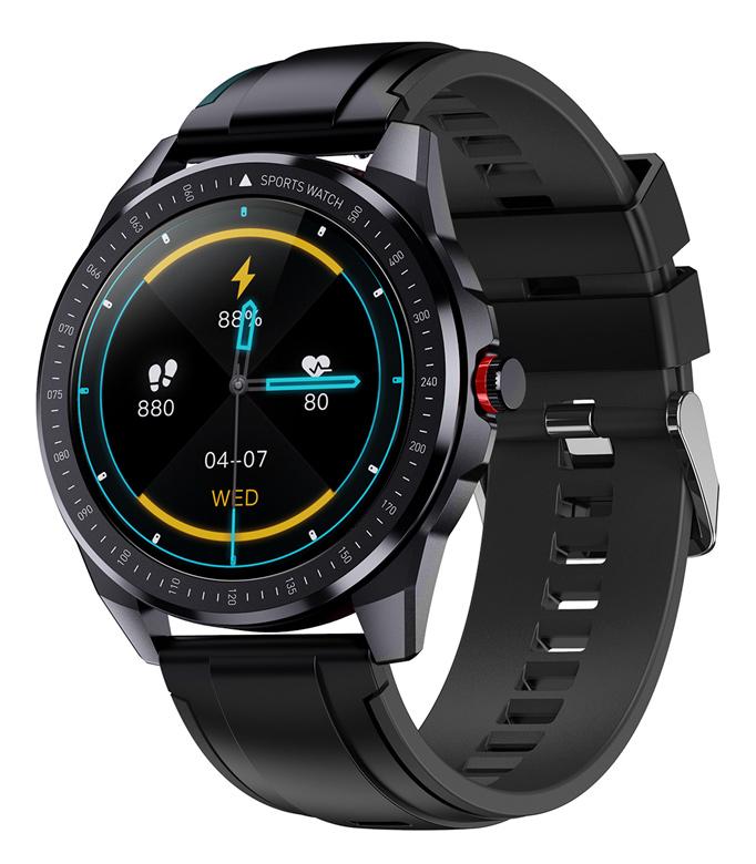 """ΙΝΤΙΜΕ smartwatch SN88, 1.28"""" έγχρωμο, IP68, HR & Blood pressure, μαύρο - INTIME 41614"""