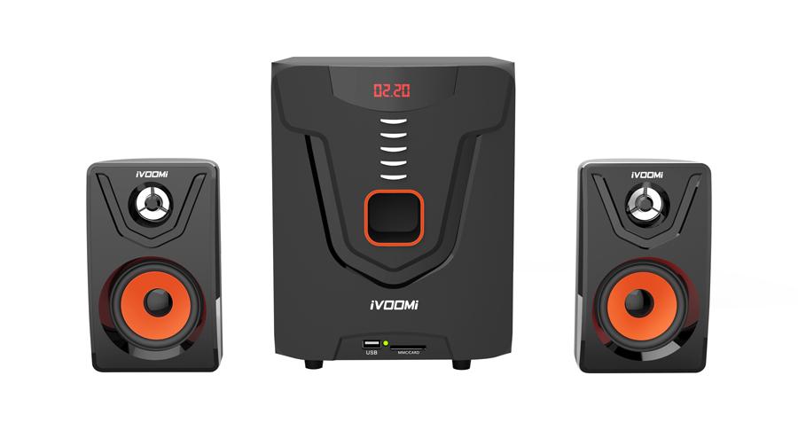 IVOOMi ηχεία iVO-2580 SUF 2.1ch, USB/SD/FM, 40W + 10Wx2, τηλεχειριστήριο - iVOOMi 18417