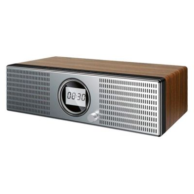 JOYROOM ηχείο JR-M20, 2x 15W, Bluetooth/AUX/USB, ραδιόφωνο, ξύλινο - JOYROOM 42548