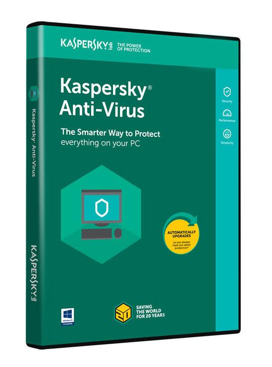 KASPERSKY Anti-Virus 2018, 3 Άδειες, 1 έτος, English - KASPERSKY 18445